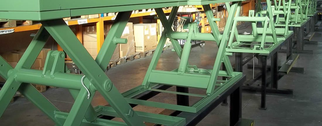 Scissor Lifting Tables and Platforms for goods loading