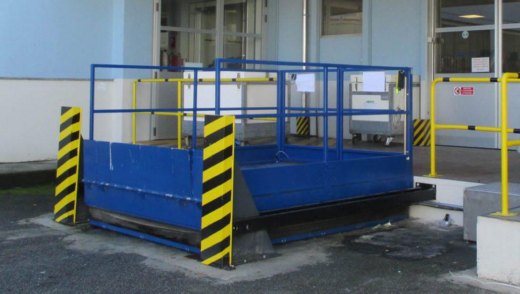 Piattaforme carico scarico camion armo dimensioni e for Piani di piattaforma di piattaforma